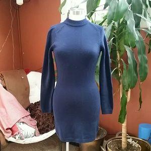 Steven Alan blue sweater dress